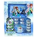 Funtime 15 Pieces Frozen Tin Tea Role Play Toy Set for Kids