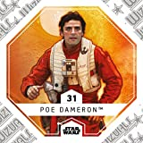 Rewe STAR WARS Cosmic Shells Normal 31 Poe Dameron + WIZUALS STICKER