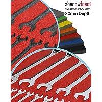Organizador de herramientas Shadow Foam, rojo, para colocar las herramientas en el armario, de espuma, rojo