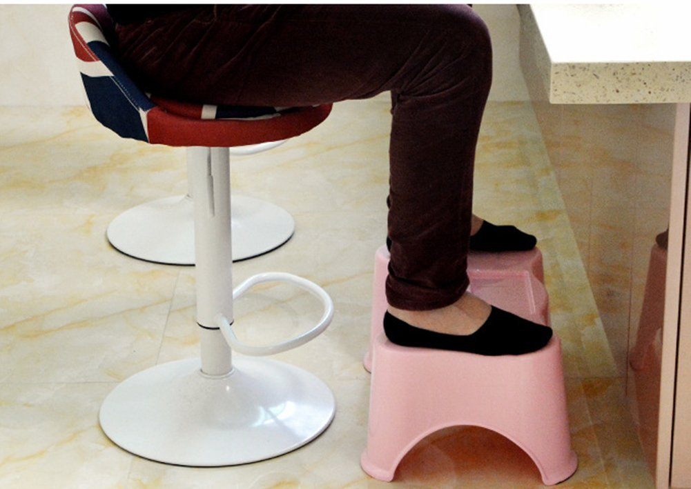 Children's Bathroom Toilet Plastic Step Stool The Elderly Women Anti-Slip Plastic Square Stool Multifunctional Step Stool,Pink Ddpp Doctors advise the entire family - perfect adults elevate their feet to a more natural position because it relaxes the control of the puborectalis muscles. Pediatricians recommend potty potty training to eliminate the discomfort of hanging feet. Sturdy, lightweight, compact, one size fits all ergonomics, easy to clean and easy to avoid completely when not in use. 2