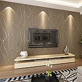 GFEI 3D Stereo Striped Suede Wallpaper / dormitorio / sala de estar de fondo Wallpaper Fondos de pantalla Tela,B