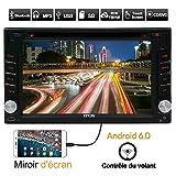 Eincar Car Audio Bluetooth GPS Android 6.0 écran tactile 6.2 '' 1080P WIFI intégré CD / DVD / VCD / MP3 / MP4 / SD / USB Radio RDS AM / FM Caméra miroir de l'écran stéréo arrière prises en charge Télécommande