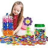 Zooawa [500 Pcs] Bloques de Construcción de Copo de Nieve, Creativo de Bloqueo de Construcción de Azulejos con Diferentes Colores para Niños y Niños Mayores de 3 Años de Edad - Vistoso