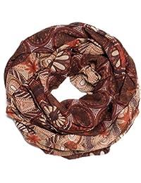 Kandharis Farbenfrohe Schlauchschal Looschal in aktuellen Herbst- & Erdtönen weiche leichte Qualität