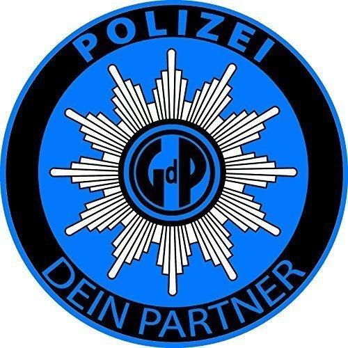 Preisvergleich Produktbild Aufkleber Gewerkschaft der Polizei - GDP - Polizeiaufkleber BLAU