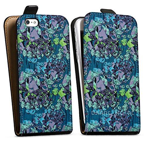 Apple iPhone X Silikon Hülle Case Schutzhülle Steine Muster Edelsteine Downflip Tasche schwarz