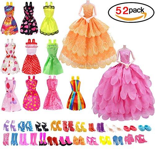 homiki 10 Stück Elegantes Kleid, 2 Stück, Mini-Kleider, Brautkleid, mit 40 Paar Verschiedenen...
