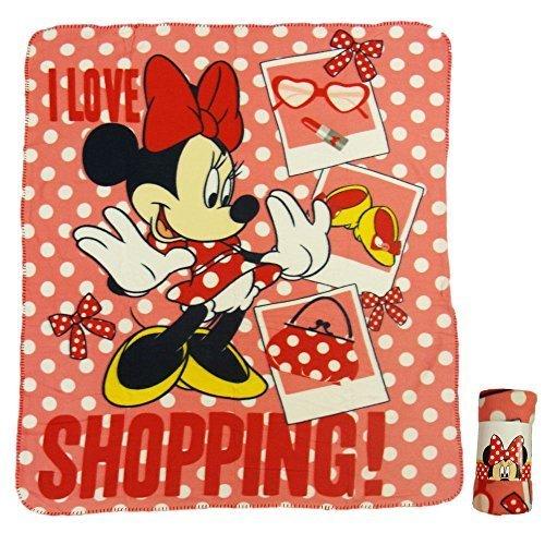 Minnie Mouse - Manta Polar roja 120 x 140 cm