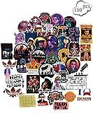 Ginkago Laptop Aufkleber 68Pcs Strangers, Wasserdicht Vinyl Stickers Graffiti Style Decals für Auto/Motorräder/Fahrrad/Snowboard/Gepäck/Laptop