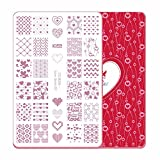 CiCi & Sisi - Placas de estampación con motivos decorativos para las uñas del día de San Valentín.