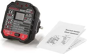 Machinyesell Habotest Ht106d Socket Tester Spannungstest Socket Detector Eu Plug Ground Zero Line Plug Polarity Phase Check Schwarz Auto