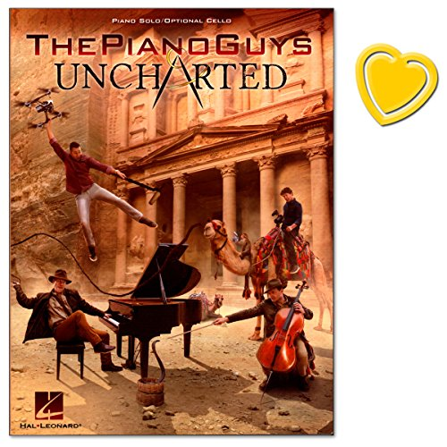 Preisvergleich Produktbild The Piano Guys Uncharted - for piano and cello - sixth studio album - number 1 in the US classical charts in 2016 - mit bunter herzförmiger Notenklammer