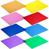 "Neewer - Kit de 8 filtros de Colores para Luces de Estudio (12x 12""/30x 30cm). Colores: Rojo, Amarillo, Naranja, Verde, M"