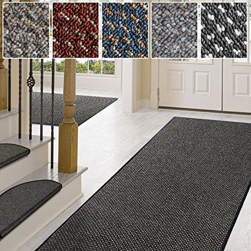 casa pura Teppich/Läufer in zahlreichen Größen | Anthrazit, gepunktet | Qualitätsprodukt aus Deutschland | Teppichläufer mit GUT Siegel | Küchenläufer, Flurläufer (80x200 cm) -