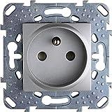 Doppio interruttore o deviatore unipolare Schneider Electric SC5S52A214 in alluminio Odace 230 V