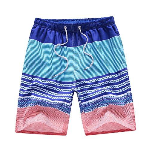 Casuale Cinque Pantaloni Ad Asciugatura Rapida Pantaloncini Vacanza Spiaggia Degli Uomini CHT 3