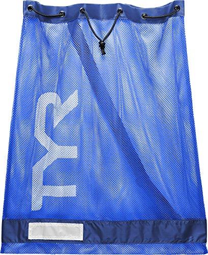 TYR Sport Netztasche für Schwimmen, 75 l, Unisex, Uni, LBD2428, Bleu/Royal, (75L) EU