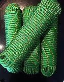 Grünes Seil 4-16 mm,Polypropylen Seil, Polypropylenseil,Leine,Schnur,Band,Rope,Tauwerk,Tau,Reepschnur,Kunststoffseil,Seile,Reep,Ankerleine,Bootstau (6 mm)