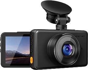apeman Dashcam 1080P Full HD DVR Autokamera 3 Zoll LCD-Bildschirm 170 ° Weitwinkel, G-Sensor, WDR, Parkmonitor, Loop-Aufnahme, Bewegungserkennung