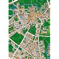 Grovely Cambridge Street Mapa (Vistas Arriba Bretaña) Rompecabezas de 1000 Piezas ...