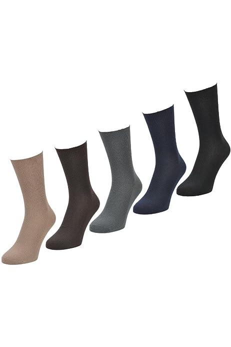 6 PARES Hombre Big Foot Top Suelto No Elástico 100% Calcetines De ...