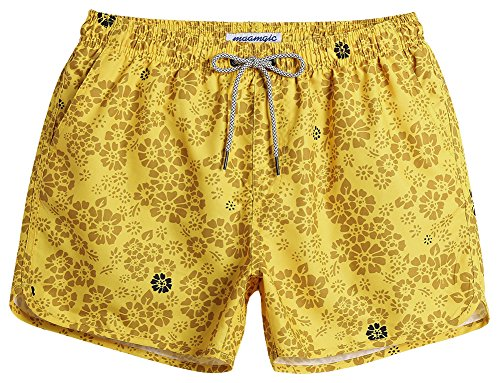 127858bcd3 MaaMgic Vantage Swimming Shorts Quick Dry Surfing Short 80s 90s Summer Beach  Swim Trunks with Pockets