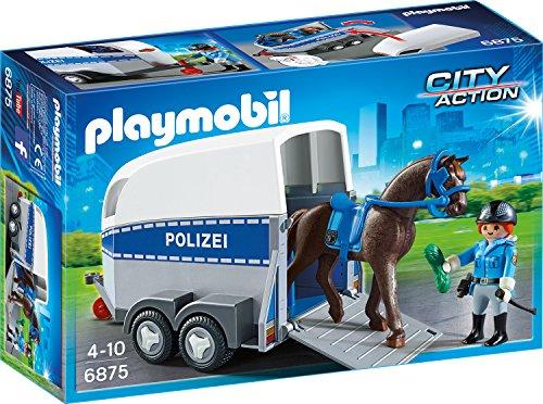 Preisvergleich Produktbild PLAYMOBIL 6875 - Berittene Polizei mit Anhänger
