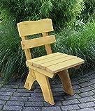 TPFGarden Gartenstuhl DRIEBRUG aus Kiefer massiv | Holz von höchster Qualität | Farbton: Kiefer Hellbraun imprägniert