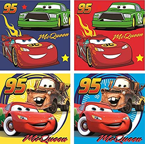 Disney Cars Lot de 4 gants de toilette à laver tache
