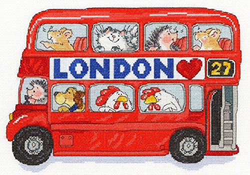 London Bus Margaret Sherry Kreuzstich-Set von Bothy Threads XMS8 (Sherry-set)