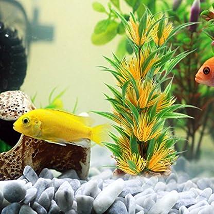 Lunji Tall Artificial Plant Plastic Aquarium Grass - Fish Tank Decoration Landscape Decor 2