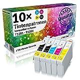 N.T.T.® 10 Stück XL 100% Qualität Druckerpatronen Tintenpatronen Tinte Satz für Epson Stylus