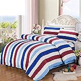 Unbekannt WLL Pastoralen Stil Gestreifte Farbe 100% Baumwolle Bettbezug - G220*240 cm (87 x 94 Zoll)