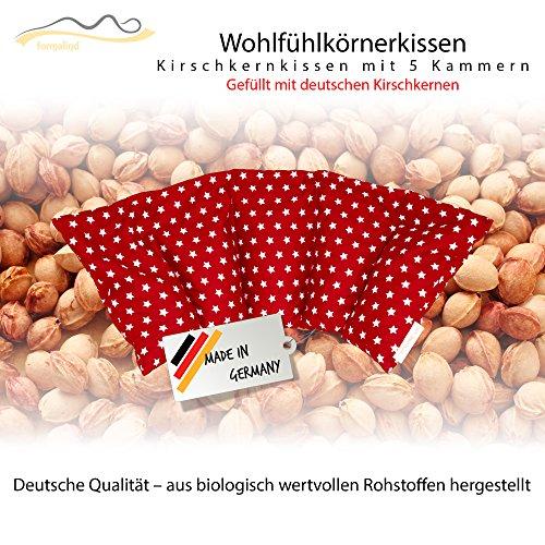 Cuscino con noccioli di ciliegia all\'interno/cuscino da rilassamento per il trattamento termico - cuscino termico riscaldabile nel microonde // (rosso)