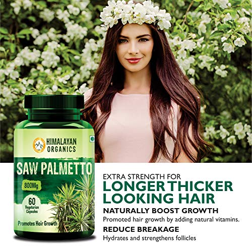 Himalayan Organics Saw Palmetto Extract Capsules for Hair Growth   800mg   60 Veg Capsules (1)