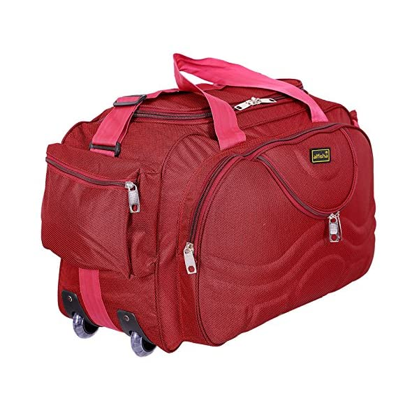 ... Laggagealfisha Lightweight Waterproof Luggage Travel Duffel Bag with Roller  Wheels – Gala Red. - 46%. On Sale 04d4093106
