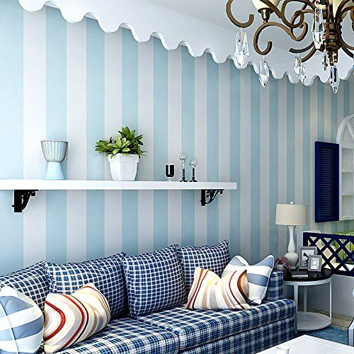 simple-blue-and-white-stripe-wallpaper-modern-living-room-bedroom-childrens-room-of-the-mediterranea