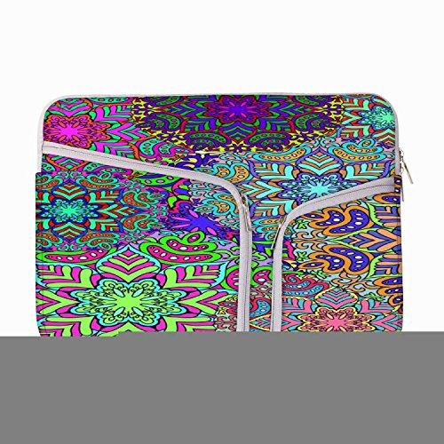 Elektrische Garment Muster 242011bis 29,5cm Laptop Hülle Sleeve Case mit Reißverschluss und 2integrierten Taschen für Ladegerät und Maus (Canvas Garment)