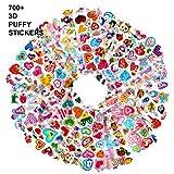 Plus de 700 Mer Animaux Cœur Sirène Autocollants 3D pour Enfant Fille Garcon, Howaf 48 Feuilles Autocollant Gommettes Stickers Pack Enfant Récompenser Scrapbooking, Récompense Cadeaux et Plus