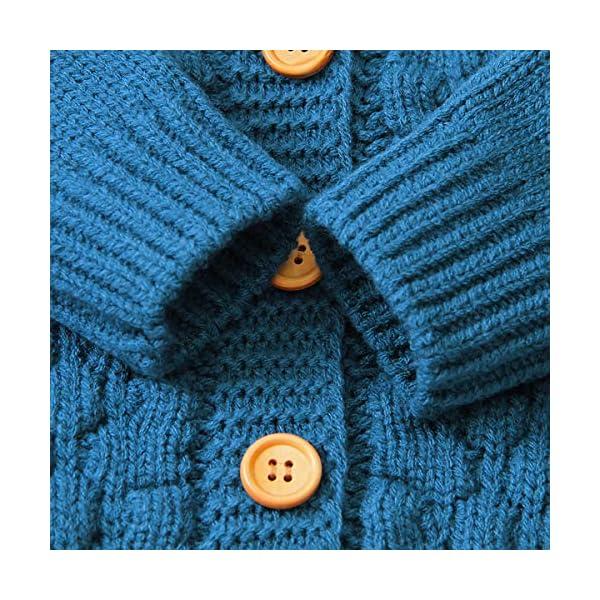 Tianhaik Bebé bebé de Punto de Ganchillo Abrigo Chaqueta con Capucha Outwear otoño Invierno suéteres Cardigan 4