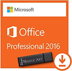 Microsoft Office Professional Plus 2016 ISO USB. 32 bit & 64 bit - Original Lizenzschlüssel mit USB Stick von Badge Art