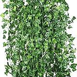 Xiangyu 12 Pack Künstliche Ivy Reben Garland Foliage Gefälschte Hängepflanze für Hochzeit Garten Wand Party Dekoration