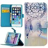 Handy Lux® Schutz Hülle Tasche Kartenfächer Flip Case Etui Cover Involto Motiv Design Hülle BookStyle (Huawei P9 LITE, Traumfänger GL)