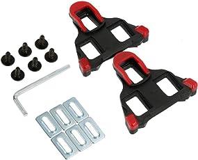 Fahrrad-Schuhplatten Cleats Set 6 Grad Schweben, SPD-SL Fahrradschuhe Pedalplatten von Selbst Schließend mit Schraubenschlüssel für Die Meisten Straßenradfahren Schuhe