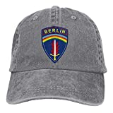 United States Army Berlin Cotton Adjustable Jeans Cap Trucker Cap for Adult