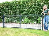 Gartentor 2-flgl. zum Doppelstabmattenzaun anthrazit - Höhe 200 cm / Breite 400 cm