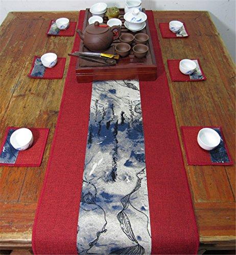 Sucastle® 30x300cm Linge de maison Chemin de Table Cuisine Imperméable Décoration en Aspect naturel