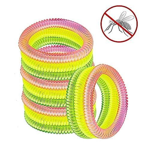 Pictek anti-moustiques Bracelets Nouvelle version, Golden+Yellow+Pink