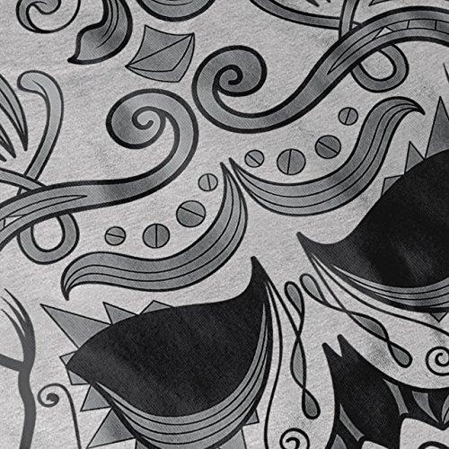 aztekisch Schädel Gesicht schaurig Damen Schwarz S-2XL Muskelshirt | Wellcoda Grau