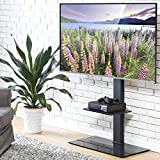 FITUEYES Swivel Cantilever TV Stand with Shelf for 50-80 Inch LCD LED TT208001MB